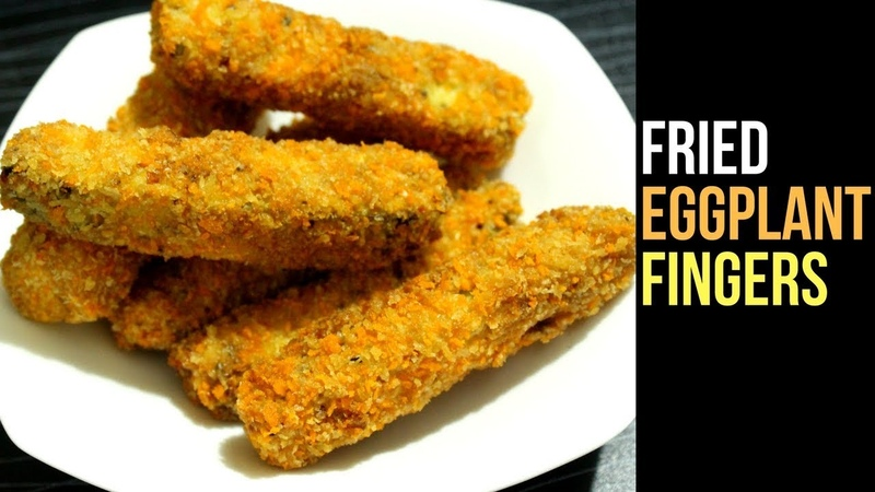 Crispy Eggplant Fingers Recipe   Fried Eggplant Recipe   Brinjal Fry   Snacks Recipe By Nians