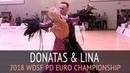 Donatas Vezelis Lina Chatkeviciute | Tango | 2018 WDSF Profesional Division Euro Championship - QF