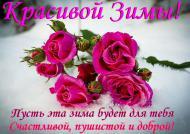 Желаю вам красивой и доброй Зимы!))))