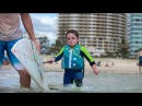 """A small surfer makes big waves. (6 year old Quincy Symonds aka """"The Flying Squirrel"""")"""