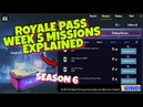Season 6 Royale Pass WEEK 5 Missions EXPLAINED PUBG Mobile Hindi