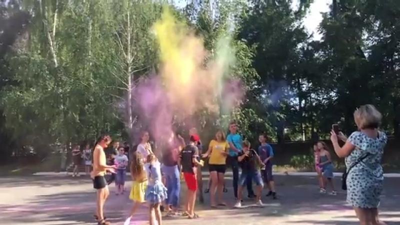 Вручение сертификатов Васильевка, краски холи