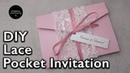 DIY Vintage beaded lace A6 pocketfold invitation | Wedding Invitations DIY