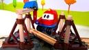A Сaixa Mágica com brinquedos. Uma ponte ferroviária de brinquedo Brio.