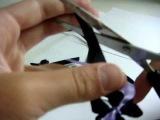 Как сделать красивый бантик из ленточек