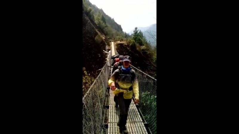 Непальские висячие мостики