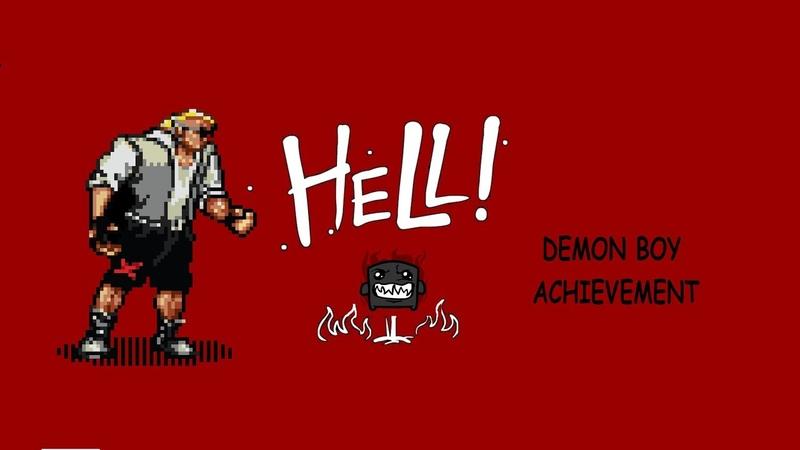 Super Meat Boy Demon Boy Achievement (Dark Hell no-death run)