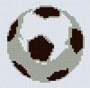 Схема вышивки футбольного мяча.