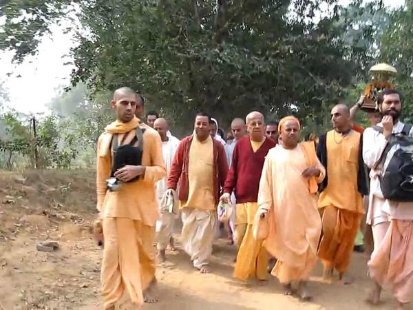 Gopal Krishna Goswami Maharaja In Vrindavan Dham