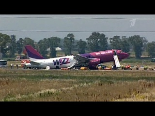 В Италии аэробус с пассажирами совершил аварийную посадку, есть пострадавшие - Первый канал