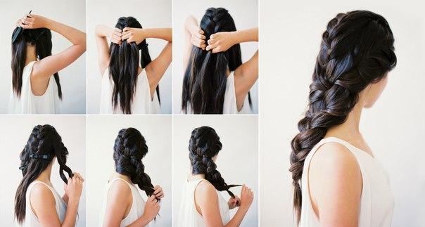 пышные прически на длинные волосы своими руками смотреть