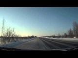 ДТП при обгоне на трассе, зимой