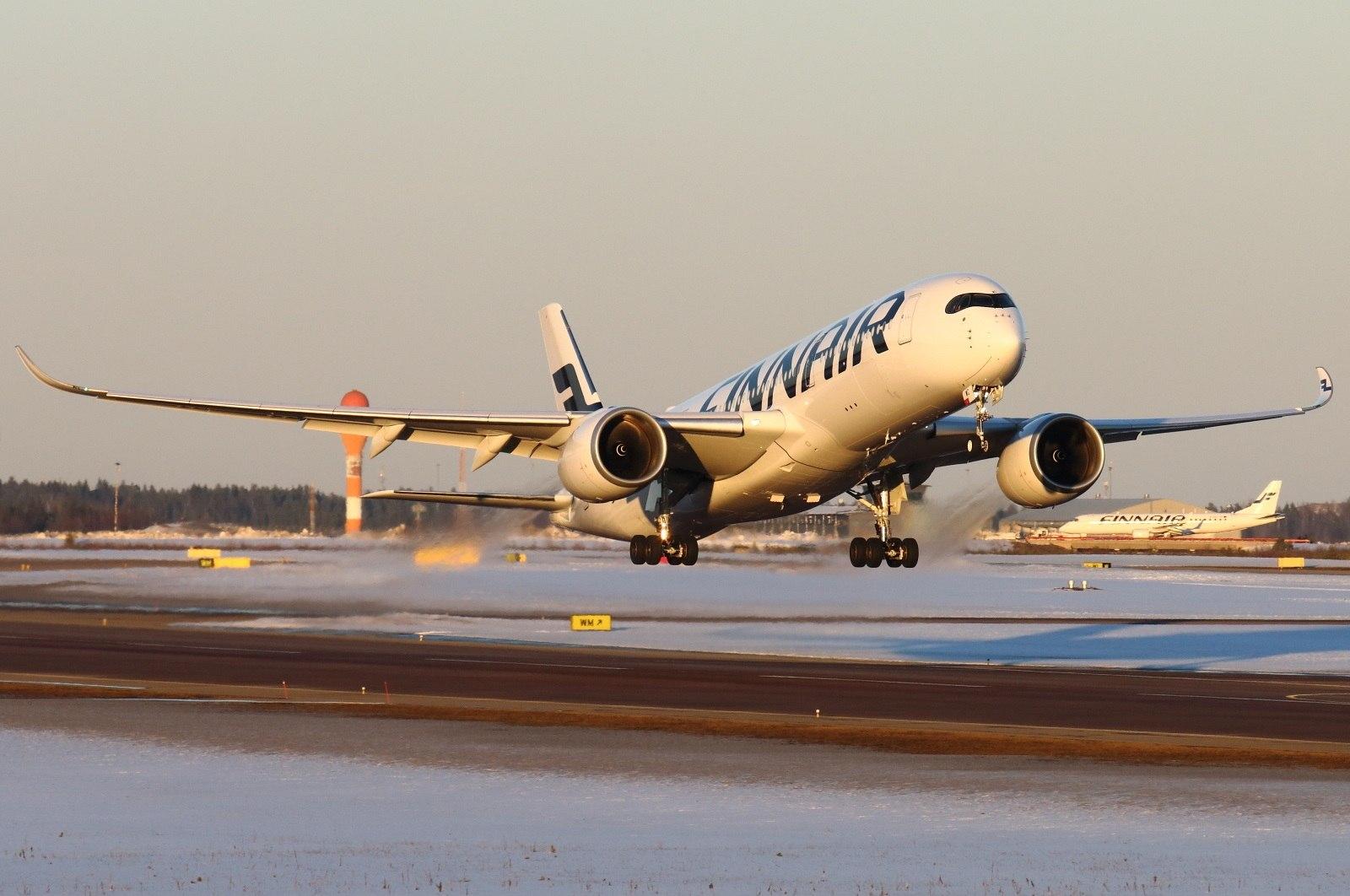 Взлет Аэробуса Finnair
