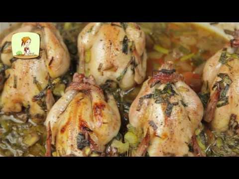Цыплята-корнишоны в бальзамической глазировке