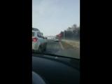 Фура горит на трассе недалеко от Чика