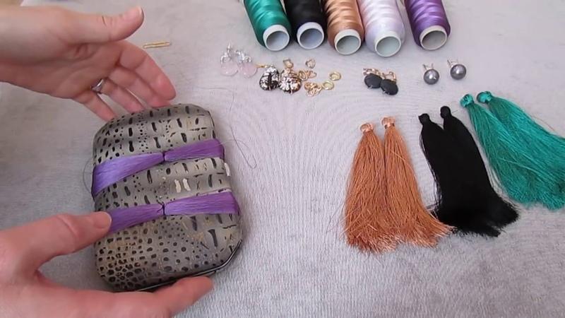Как сделать серьги кисти .Мастер-класс серьги кисти. earrings brush