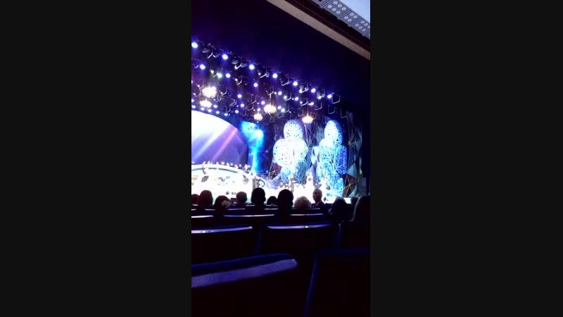 Москва. Кремлевский дворец. Концерт Белоснежный бал Штрауса. Поет солистка Мариинского театра Лариса Елина.