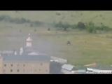 Луганск. Пограничники ведут бой под звуки гимна Украины 02.06.2014