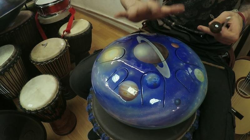 Глюкофон Планетарный двусторонний Сатурн для медитаций и импровизаций.