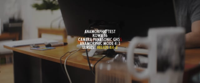 Anamorphic test Kowa 16H GH5s