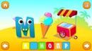 Учим буквы. Алфавит. Интерактивный алфавит. Мультик для детей 0