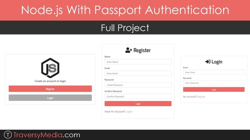 Node.js With Passport Authentication   Full Project