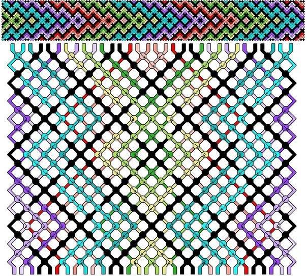 Схемы плетения гейзеров