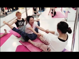 Sls 軟体 extremely painful leg twisting contortion 強制柔軟地獄