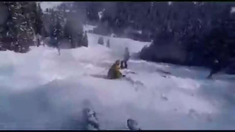Мои навыки лыжника в одном видео