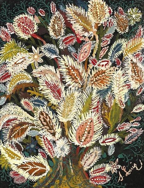 Удивительные картины французской наивной художницы Серафины Луи, которая была простой уборщицей, но при этом ее талант признали в Европе