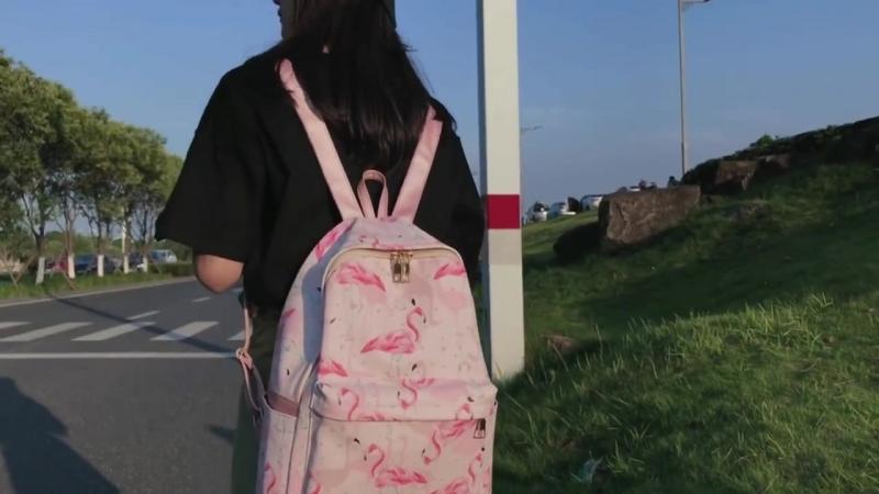 Сладкая Женщина Рюкзак розовых сумка ранцы