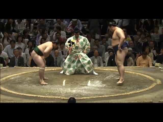 Sadanoumi vs Tochinowaka Day 10 Sumo Natsu Basho May 2014