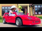 Чуть не уехали в отпуск на раритетном Ferrari 89 без родителей или tried to leave without parents