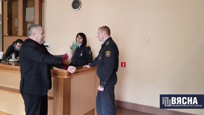 Гарадзенскі актывіст Мікалай Салянік у судзе