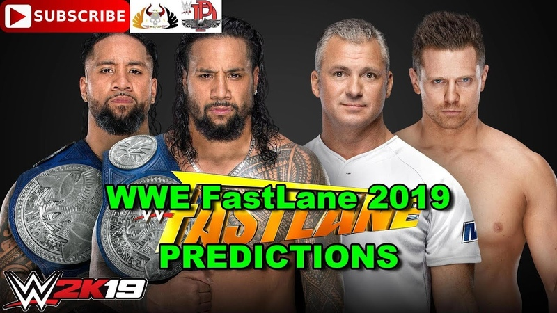 WWE FastLane 2019 SmackDown Tag Team Championship The Usos vs The Miz Shane McMahon WWE 2K19