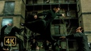 Нео против Смита и его клонов. Драка в сквере. Матрица Перезагрузка 2003 4K ULTRA HD