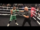 WORLD TITLE NEXT? KID GALAHAD SMASHES PADS WITH DOMINIC INGLE @ PUBLIC WORKOUT / BOSTON