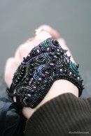 варежки связаны из шерсти ,расшиты бисером ,бусинами ,натуральным мехом Фото...