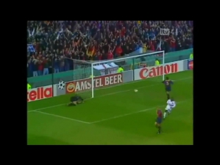 Дэвид Бекхэм (Манчестер Юнайтед) - гол со штрафного в ворота