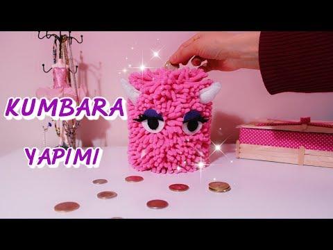 TATLI CANAVARLI KUMBARA YAPIMI DIY CUTE MONSTER PIGGY BANK