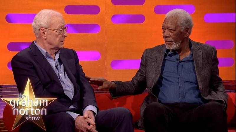 Sir Michael Caine Morgan Freeman Discuss Acting Techniques | The Graham Norton Show