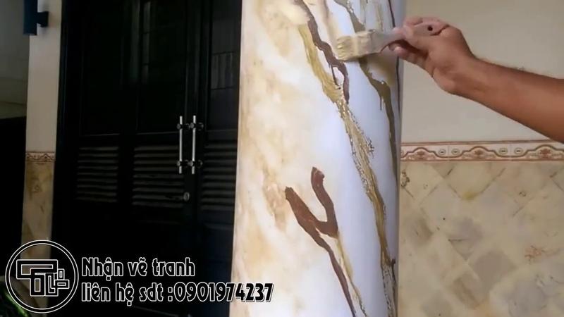 Hướng Dẫn Vẽ Giả Đá Cực Dễ Tranh Tường Đà Nẵng Tý Tranh Tường