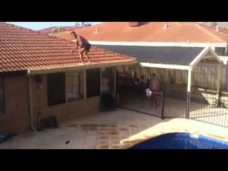 Crazy Backflip Pool Jump