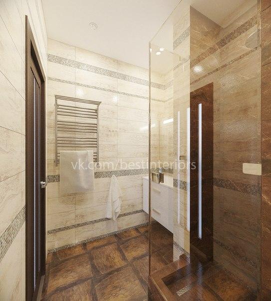 Ванная комната со встроенной душевой (3 фото) - картинка