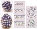 Этот способ оплетения пасхального яйца можно разделить на два этапа: 1 -й - оплетение средней части яйца, 2-й...