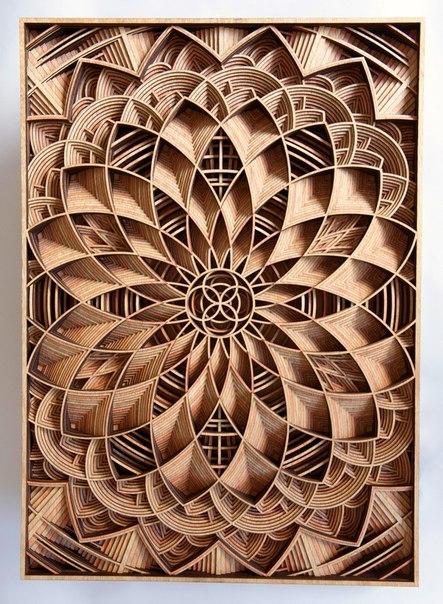 Деревянные мандалы Габриэля Шама