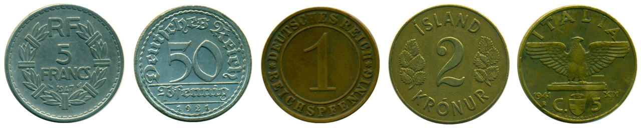 старые монеты мира