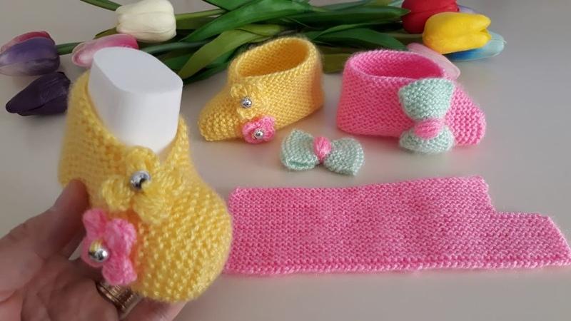 İki Şiş İle Bebek Patik Yapımı ♥ Kendi Tasarımım