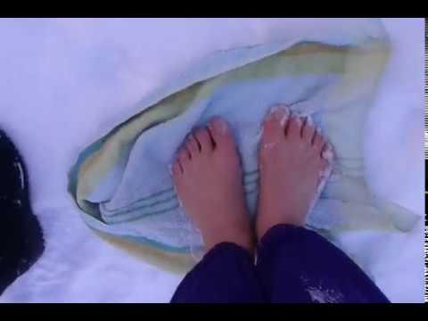 Правила хождения босиком по снегу