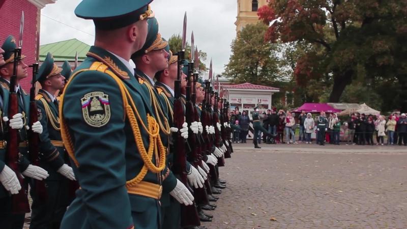 Развод почётного караула СПб УГПС МЧС РФ 26 сентября 2018 года на Нарышкином бастионе